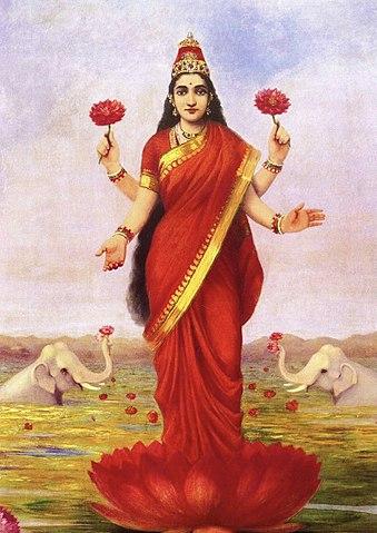 339px-Raja_Ravi_Varma,_Goddess_Lakshmi,_1896